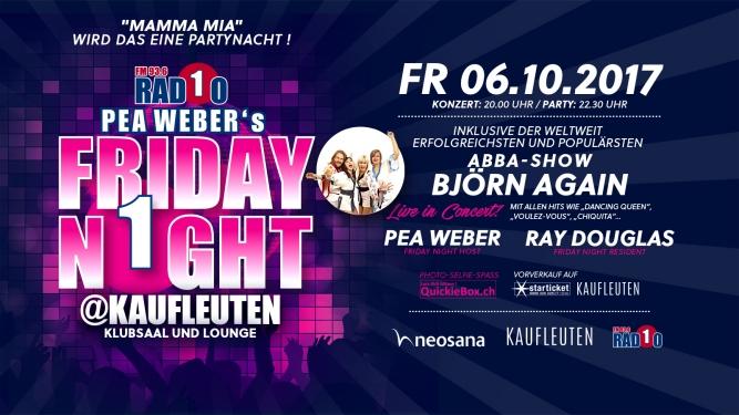 Radio 1 Pea Weber's Friday Night Kaufleuten Zürich Tickets