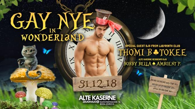 Gay NYE in Wonderland Alte Kaserne Zürich Tickets