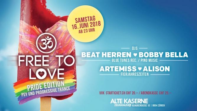 Free To Love - Pride Edition Alte Kaserne Zürich Biglietti