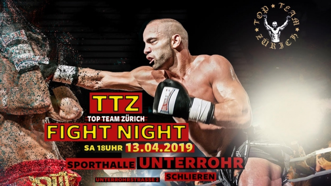 Top Team Zürich Fight Night Sporthalle unterrohr Schlieren Billets