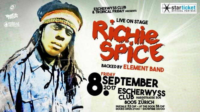 Richie Spice Escherwyss, Hardstr. 305 Zürich Tickets