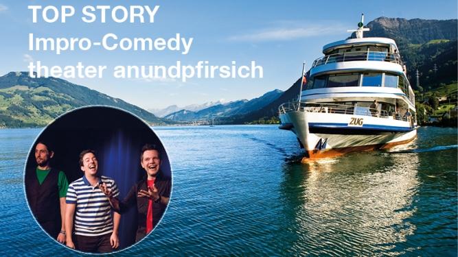 Impro-Comedy vom theater anundpfirsich MS Rigi Zug, Bahnhofsteg Tickets