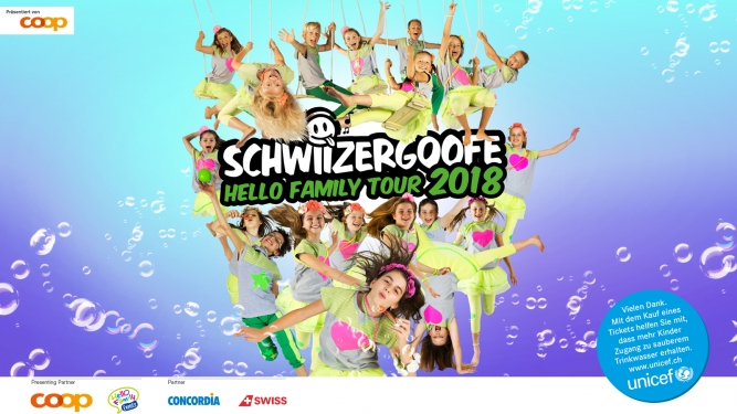 Schwiizergoofe - Hello Family Tour 2018 Kultur- und Kongresszentrum Thun Billets