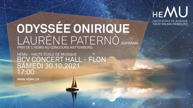 Odyssée onirique BCV Concert Hall Lausanne Billets
