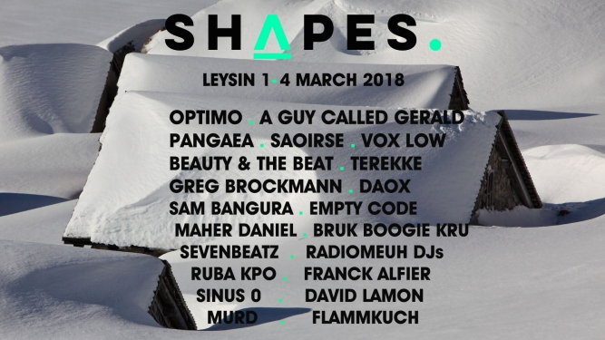 Shapes Festival: Saturday Ticket Leysin Art Auditiorium Leysin Biglietti