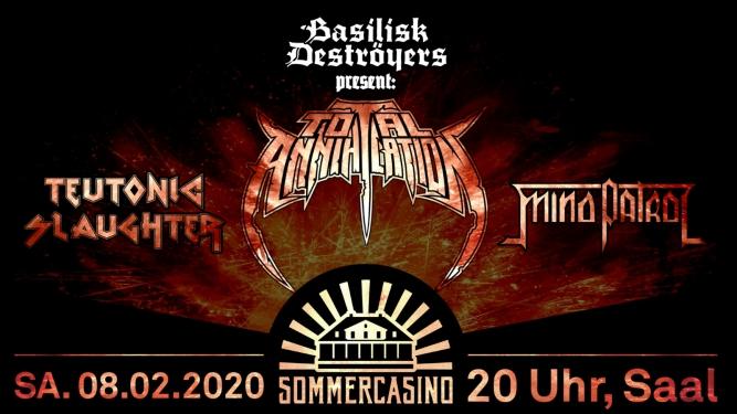 Total Annihilation Plattentaufe Sommercasino Basel Tickets