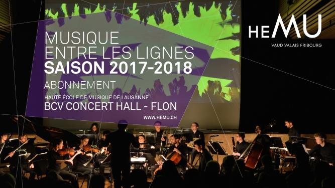 Abonnement Musique entre les lignes saison 2017-2018 BCV Concert Hall Lausanne Tickets