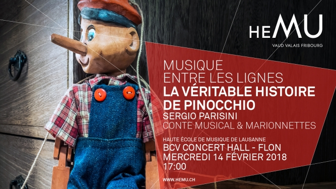 La Véritable Histoire de Pinocchio BCV Concert Hall Lausanne Billets