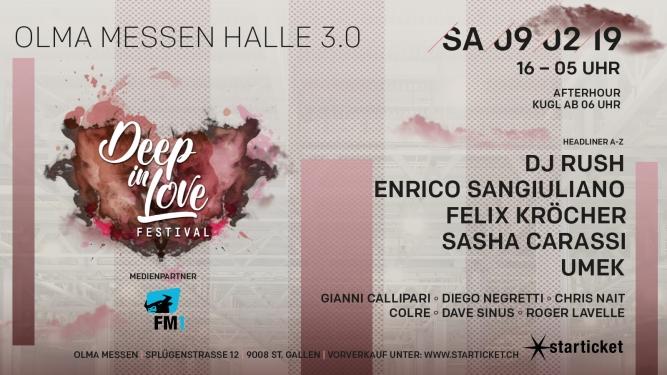 Deep in Love Festival - 2019 Olma Messen Halle 3.0 St.Gallen Tickets