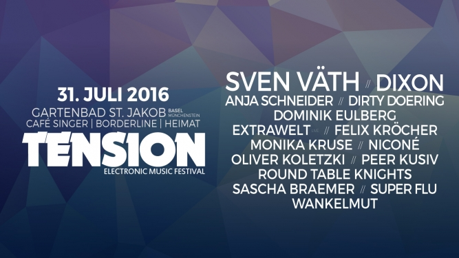 Tension Festival 2016 Gartenbad St. Jakob & Nachtlocation Münchenstein / Basel Tickets