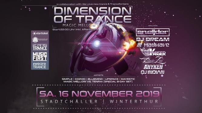 Dimension of Trance Stadtchäller Winterthur Winterthur Tickets