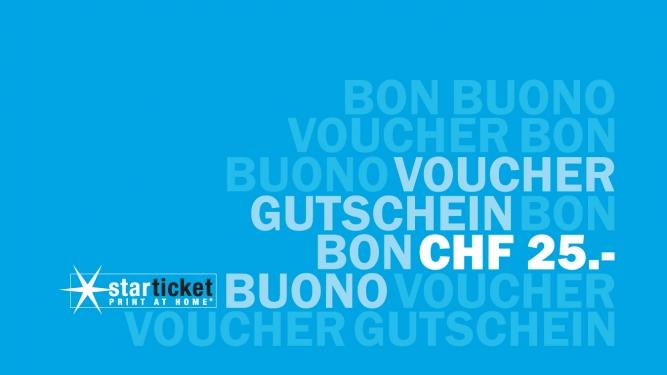 Gutschein im Wert von CHF 25.00 Diverse Locations Diverse Orte Tickets
