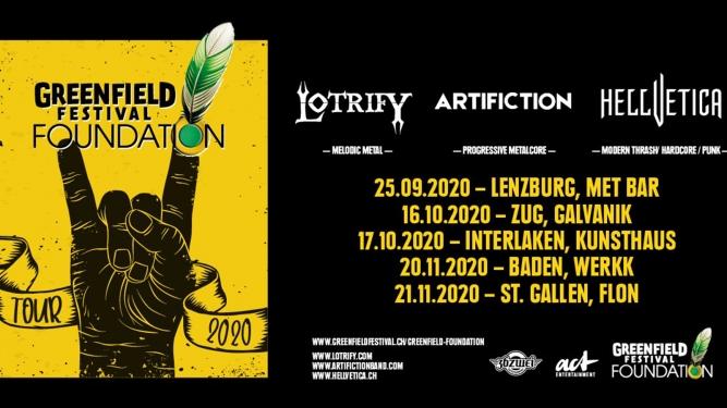 Greenfield Festival Foundation Tour 2020 Werkk Kulturlokal Baden Tickets