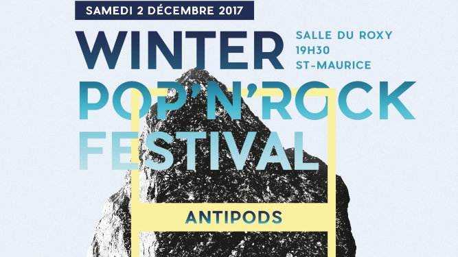 Winter Pop'n'Rock Festival Salle du Roxy St-Maurice Billets