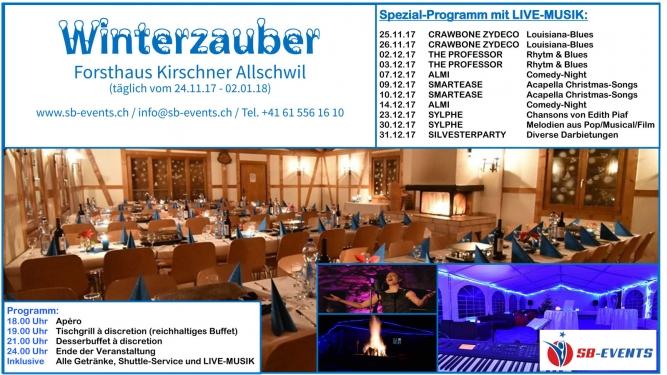 Winterzauber - The Professor Forsthaus Kirschner Allschwil Tickets