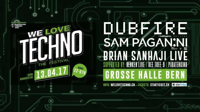 We Love Techno the festival Reitschule Bern, Grosse Halle Bern Tickets