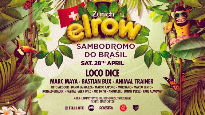 Elrow X-TRA, Limmatstr. 118 Zürich Tickets