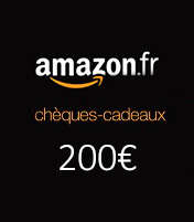 Cheque cadeau Amazon 200€