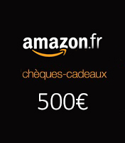Cheque cadeau Amazon 500€