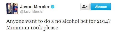 Jason twit alcool