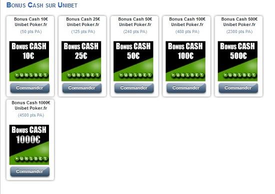 boutique poker academie unibet bonus cash ppa