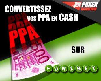 poker académie bonus cash unibet ppa