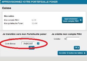 pmu poker bonus vip 500€ bonus reload poker académie