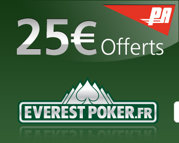 25 euros offerts Poker Everest