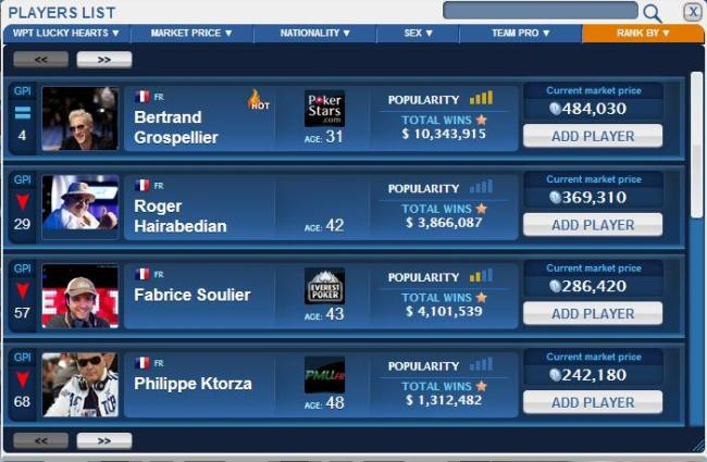 fantasy poker manager gpi