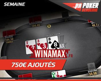 Semaine Winamax 750 € ajoutés