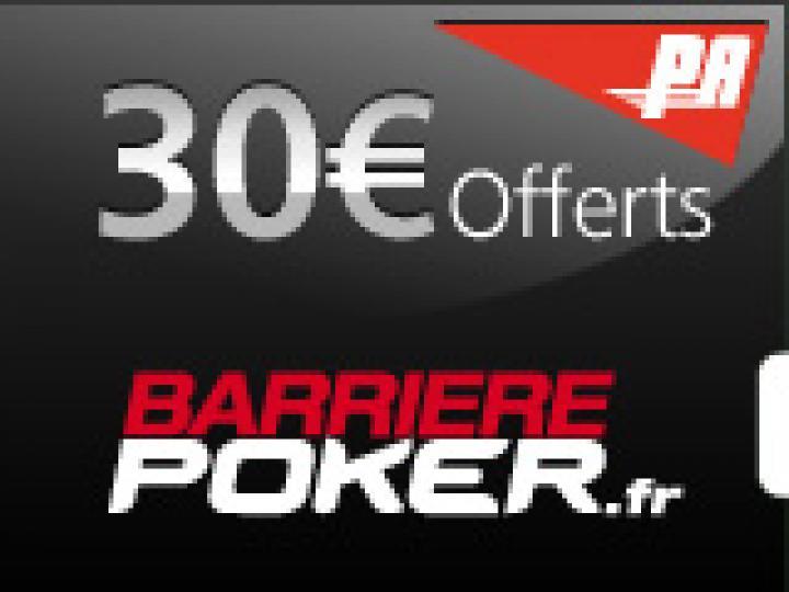 30€ offerts sur Barrière