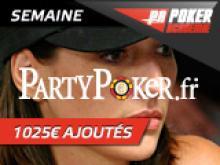 Semaine spéciale Kara Scott - WPT sur Party Poker - 1025 € ajoutés!