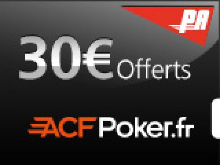 50€ offerts sur ACF Poker