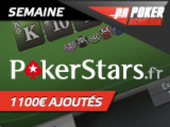 Semaine spéciale Micro Series sur Pokerstars - 1100 € ajoutés