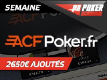 Freeroll PA sur ACFPoker - 100 € + 2 places pour la Finale PA