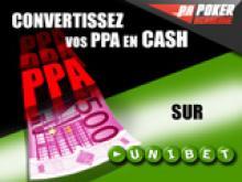 Convertissez vos PPA en cash sur Unibet avec PokerAcademie!