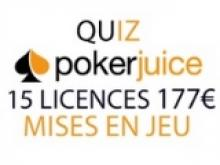 Quiz PokerJuice : 15 licences à gagner