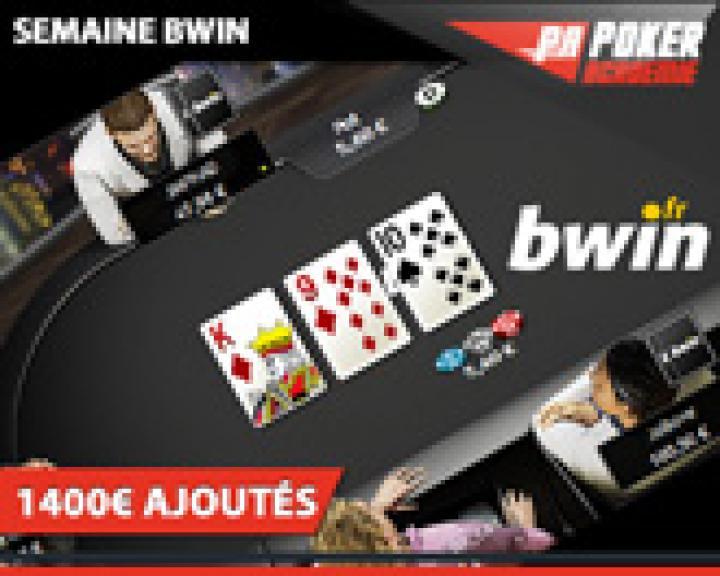 Semaines spéciales Bwin avec 1400€ ajoutés