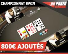 Championnat Intergalactic : 800€ garantis sur Bwin en février !