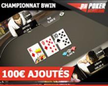 Tournoi Gravity 100€ sur Bwin