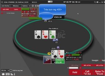 Affronter les reg en cash game head's up : Batmax review un match en NL400 (2/3)