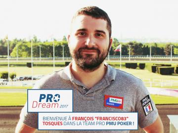 Pro Dream PMU 2017 : François Tosques remporte le contrat à 50.000€