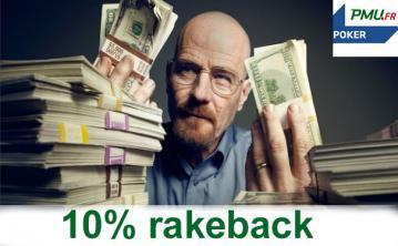 Promo extracash Poker Académie : gagnez 10% de rakeback en juin sur PMU