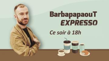 Bibibiatch reprend une tournée d'expressos à 18h sur Twitch !