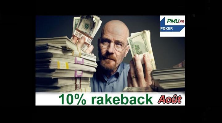 Promotion extracash : gagnez jusqu'à 600€ sur PMU Poker en août !