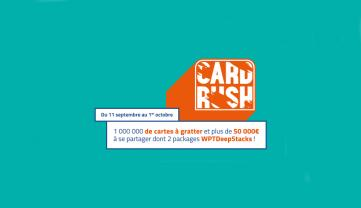 PMU relance sa promotion Card Rush - 3 packages WPT DeepStacks à gagner