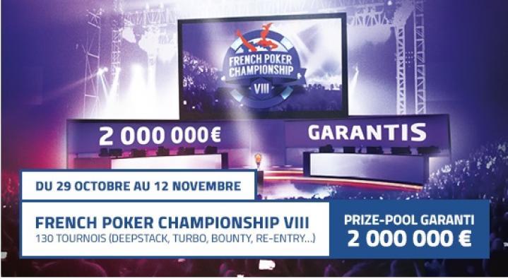Top départ dimanche des French Poker Championship : 2.000.000€ garantis