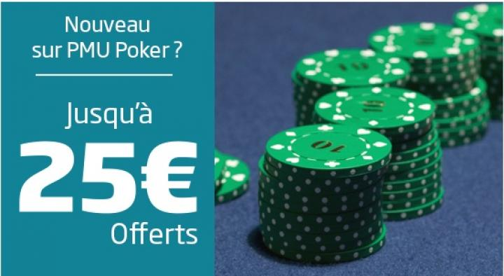 PMU Poker booste son bonus de bienvenue