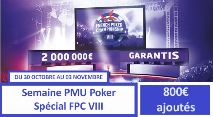 Semaine PMU spéciale FPC VIII - 800€ de tickets pour les académiciens !