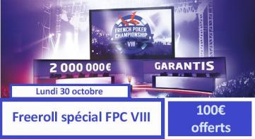Freeroll spécial FPC VIII - 100€ ajoutés